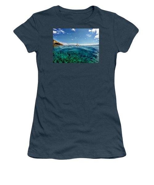 Women's T-Shirt (Junior Cut) featuring the photograph Water Shot by Michael Albright