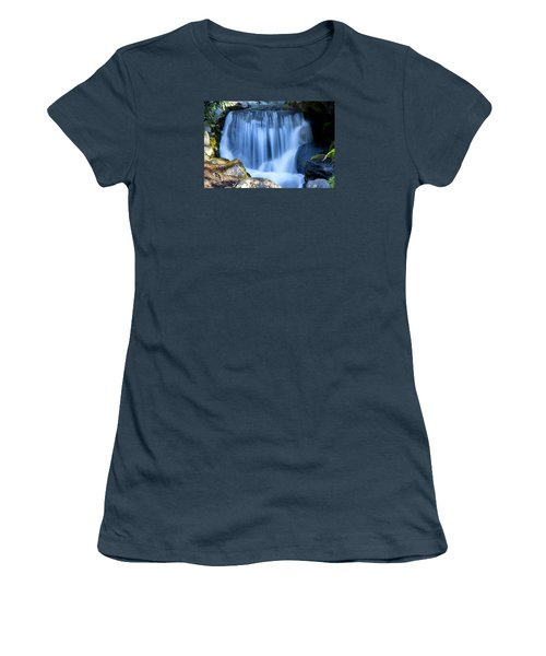Waterfall At Dow Gardens, Midland Michigan Women's T-Shirt (Junior Cut) by Pat Cook