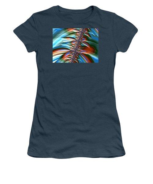 Women's T-Shirt (Junior Cut) featuring the digital art Waterfall Fractal 2 by Bonnie Bruno