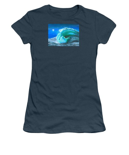 Wave Women's T-Shirt (Junior Cut) by Veronica Rickard