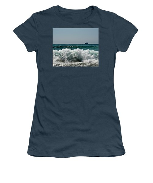 Waves Of Pacific Ocean. Coromandel,new Zealand Women's T-Shirt (Junior Cut) by Yurix Sardinelly