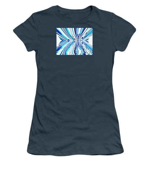 Wavy Blues  Women's T-Shirt (Junior Cut) by Sandy Taylor