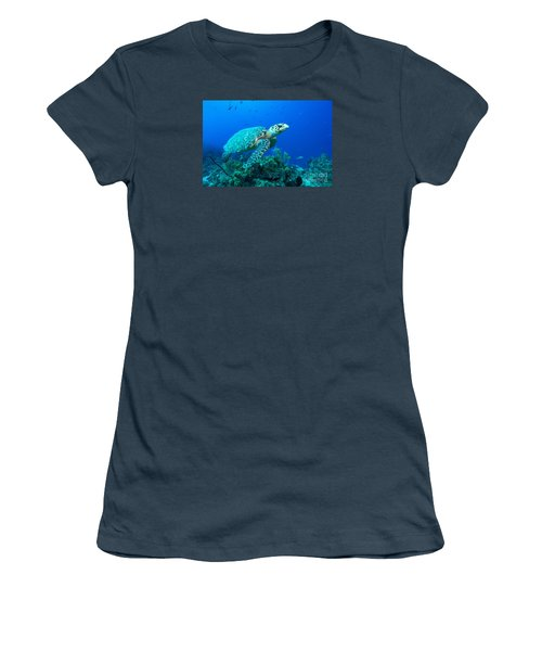 Women's T-Shirt (Junior Cut) featuring the photograph West Caicos Traveler by Aaron Whittemore