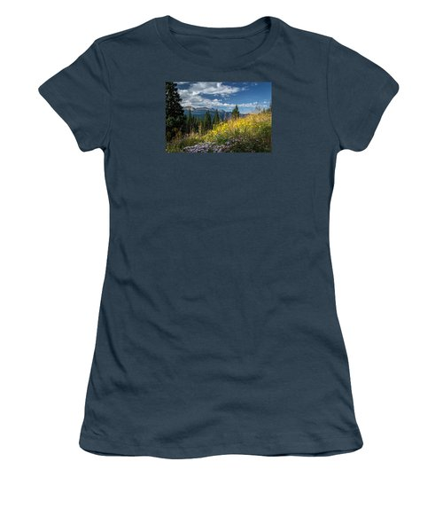 West Elk Mountain Range Women's T-Shirt (Junior Cut) by Michael J Bauer