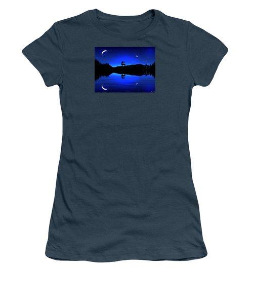 Women's T-Shirt (Junior Cut) featuring the digital art Wherever I May Roam by Bernd Hau