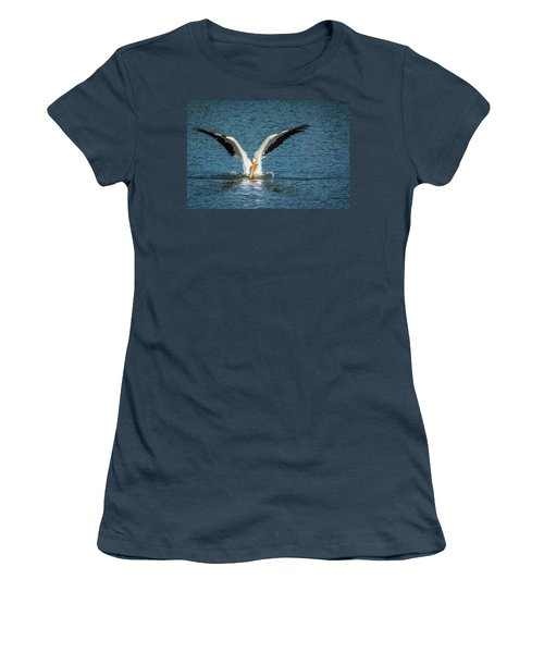 White American Pelican Women's T-Shirt (Junior Cut) by Pamela Williams