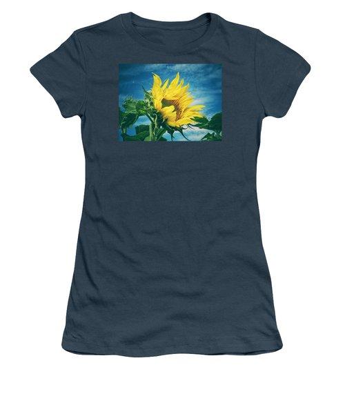 Women's T-Shirt (Junior Cut) featuring the photograph Windblown  by Karen Stahlros