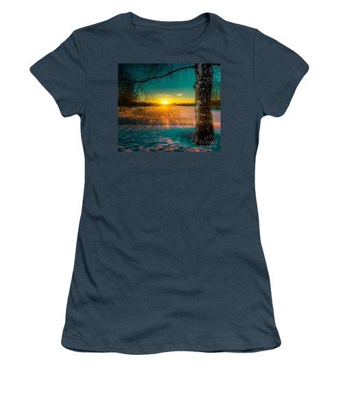 Winter Delight In British Columbia Women's T-Shirt (Junior Cut) by Rod Jellison