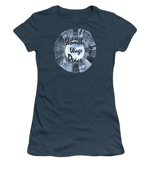 Women Wage Peace Blue Women's T-Shirt (Junior Cut) by Michele Avanti
