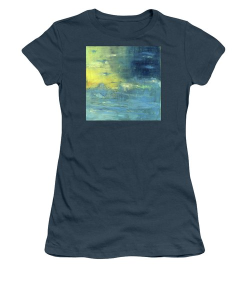 Women's T-Shirt (Junior Cut) featuring the painting Yearning Tides by Michal Mitak Mahgerefteh
