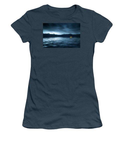 Yellow Boat Women's T-Shirt (Junior Cut) by Bess Hamiti