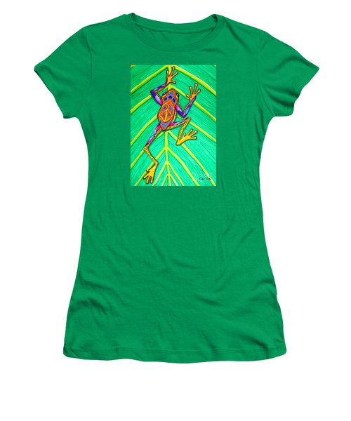 Peace Frog Women's T-Shirt (Athletic Fit)