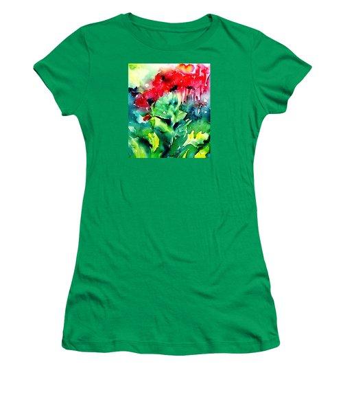A Haze Of Poppies Women's T-Shirt (Junior Cut) by Trudi Doyle