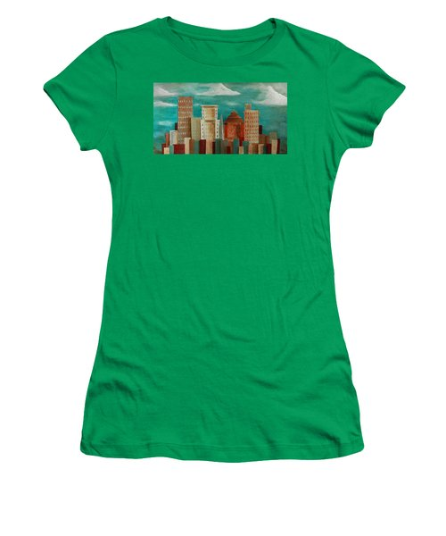 Asheville Skyline Women's T-Shirt (Athletic Fit)