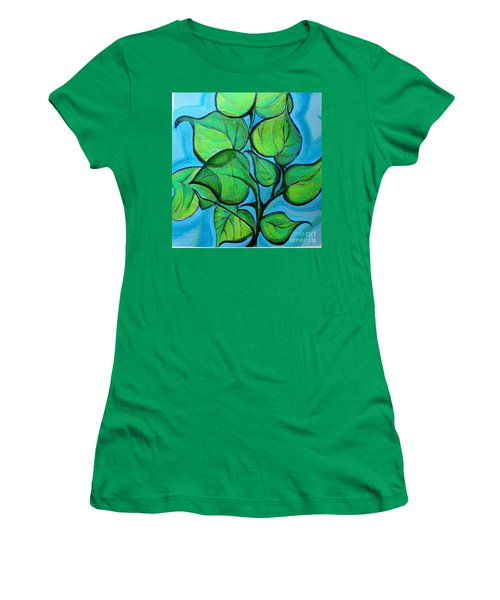 Botanical Leaves Women's T-Shirt (Athletic Fit)