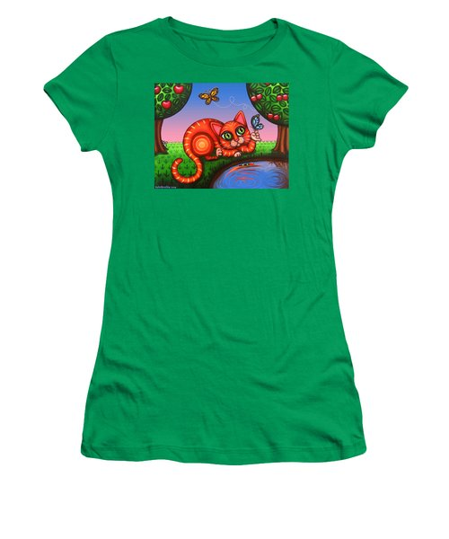 Cat In Reflection Women's T-Shirt