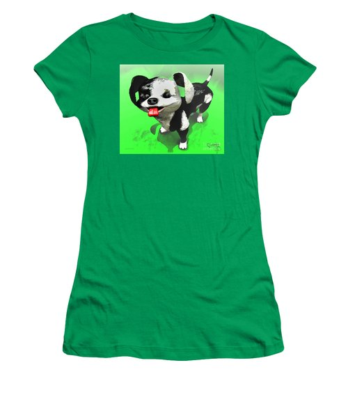 Women's T-Shirt (Junior Cut) featuring the painting Checkmate by Dave Luebbert