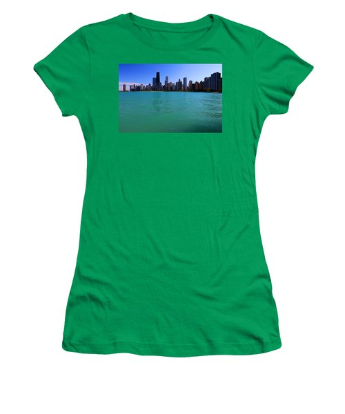 Chicago Skyline Teal Water Women's T-Shirt
