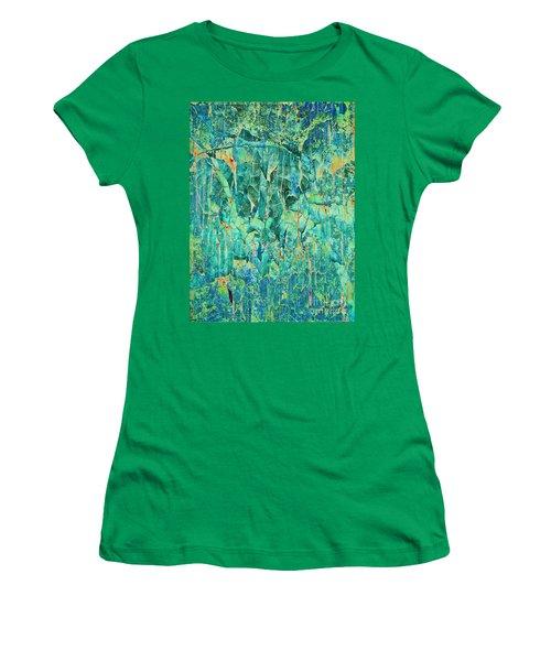 Cracks In Blue Women's T-Shirt