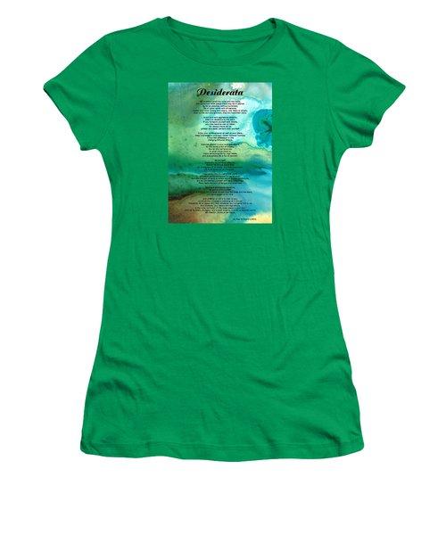 Desiderata 2 - Words Of Wisdom Women's T-Shirt