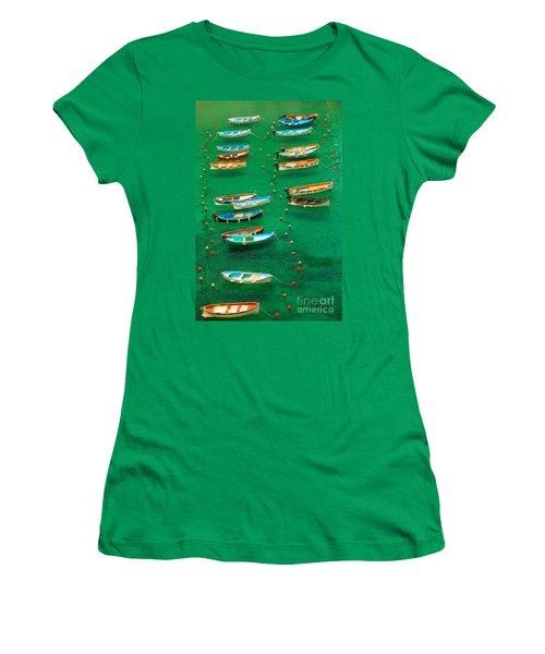 Fishing Boats In Vernazza Women's T-Shirt (Athletic Fit)