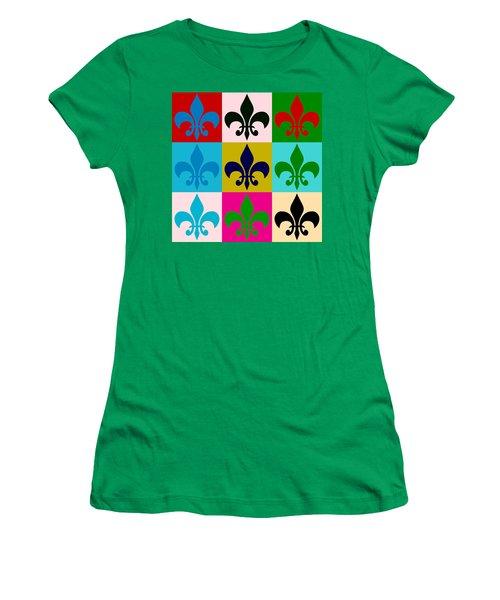 Fleur-de-lis Collage Women's T-Shirt