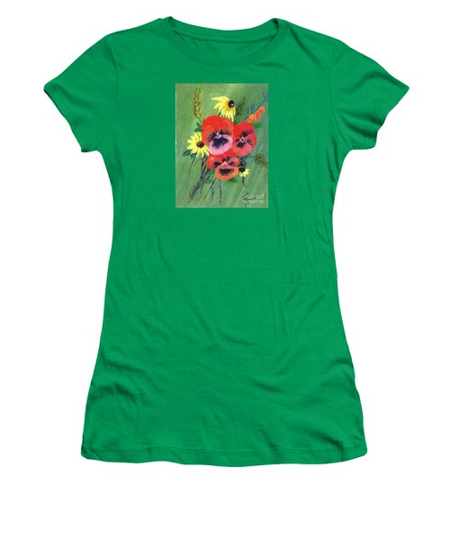 Flower Bunch Women's T-Shirt (Junior Cut) by Francine Heykoop