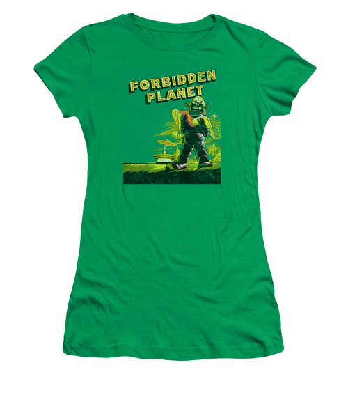 Forbidden Planet - Old Poster Women's T-Shirt (Athletic Fit)