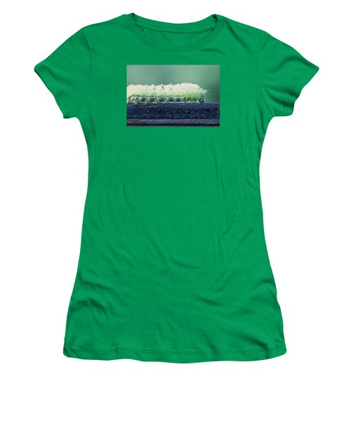 Fuzzy Caterpillar Women's T-Shirt (Junior Cut) by Jane Eleanor Nicholas