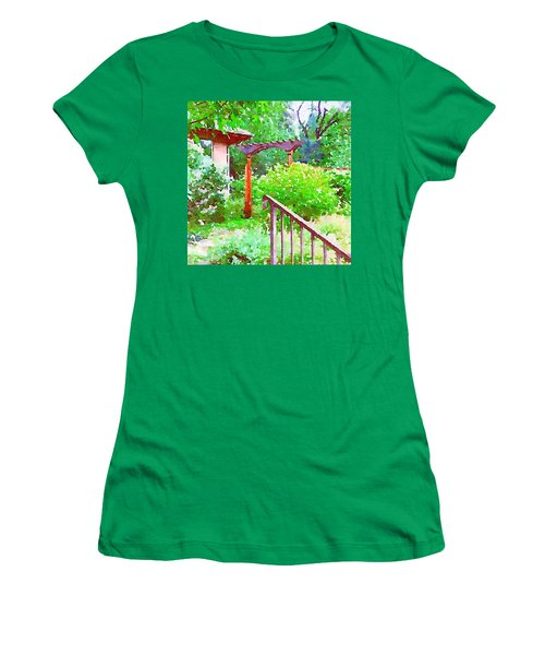 Garden Path With Arbor Women's T-Shirt