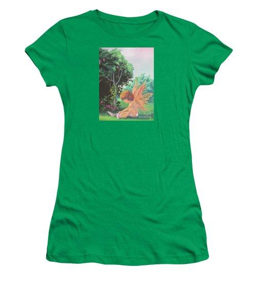 Getting Dressed Women's T-Shirt (Junior Cut) by Vivien Rhyan