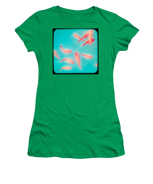 Women's T-Shirt featuring the photograph Goldfish - Glowing Fish - Gary Heller by Gary Heller