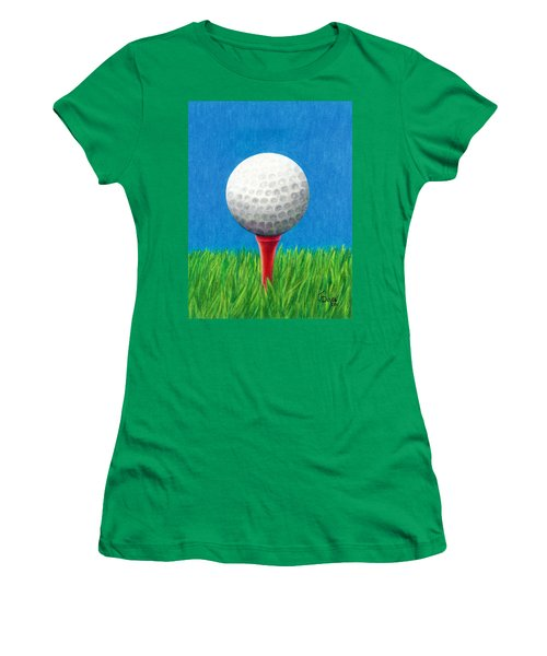 Golf Ball And Tee Women's T-Shirt