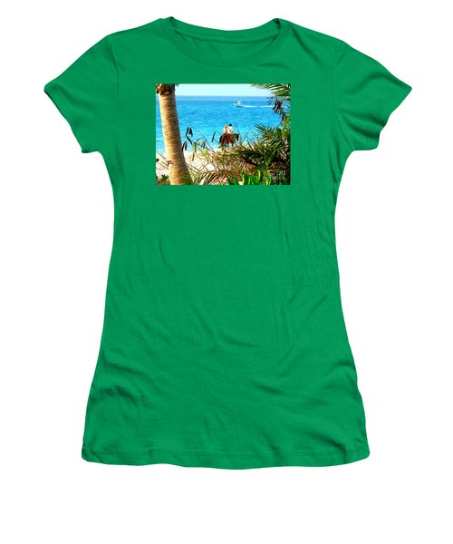 Women's T-Shirt (Junior Cut) featuring the photograph Grace Bay Riding by Patti Whitten