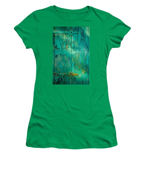 Green Door - Carmel By The Sea Women's T-Shirt (Junior Cut)