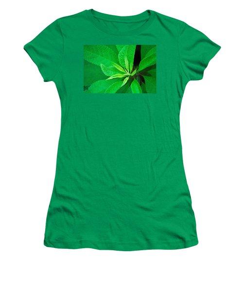 Green Women's T-Shirt (Junior Cut) by Ludwig Keck