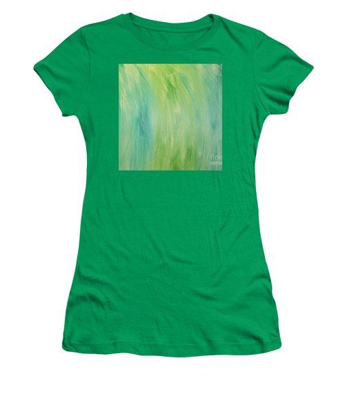 Green Shades Women's T-Shirt (Junior Cut) by Barbara Yearty