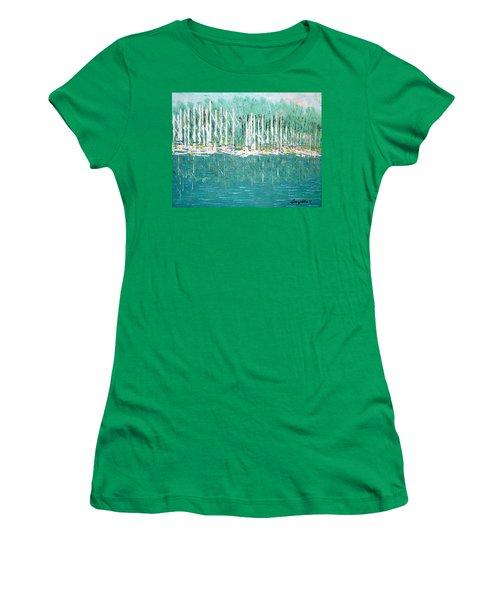 Harbor Shores Women's T-Shirt (Junior Cut) by George Riney