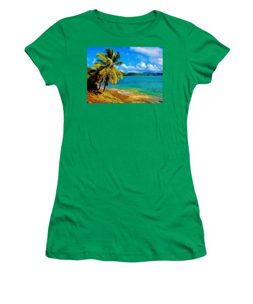 Haulover Bay Usvi Women's T-Shirt (Athletic Fit)