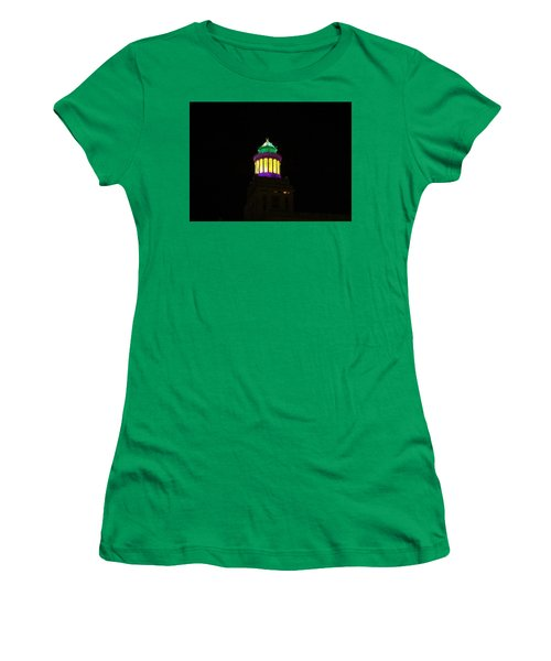 Hibernia Tower - Mardi Gras Women's T-Shirt (Athletic Fit)
