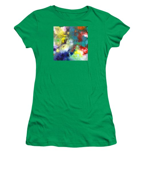 Holding The High Watch Canvas Two Women's T-Shirt (Junior Cut) by Sally Trace