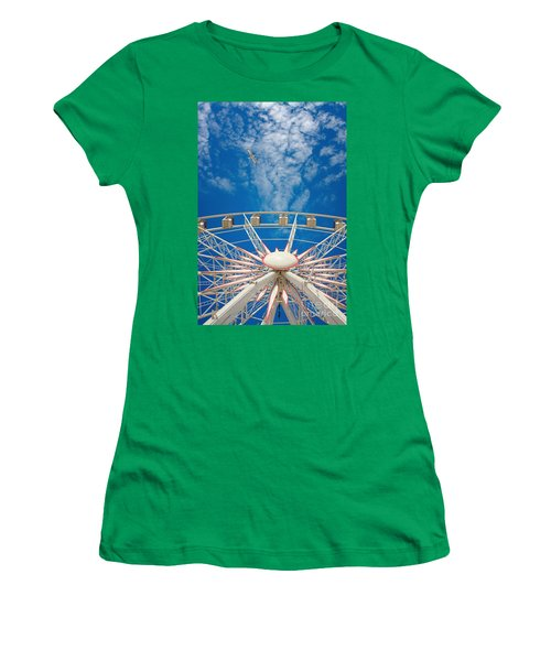 Huge Ferris Wheel Women's T-Shirt (Athletic Fit)