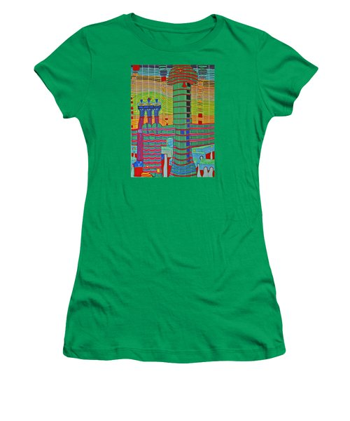 Hundertwasser Das Ende Griechenlands In 3d By J.j.b. Women's T-Shirt (Athletic Fit)
