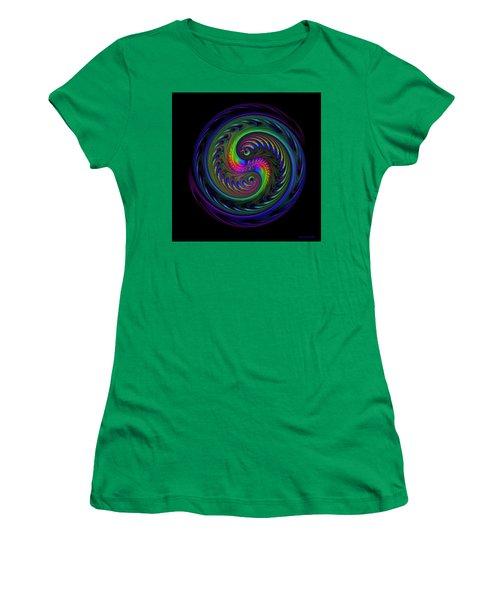 Koi Yin Yang Women's T-Shirt (Junior Cut) by Judi Suni Hall