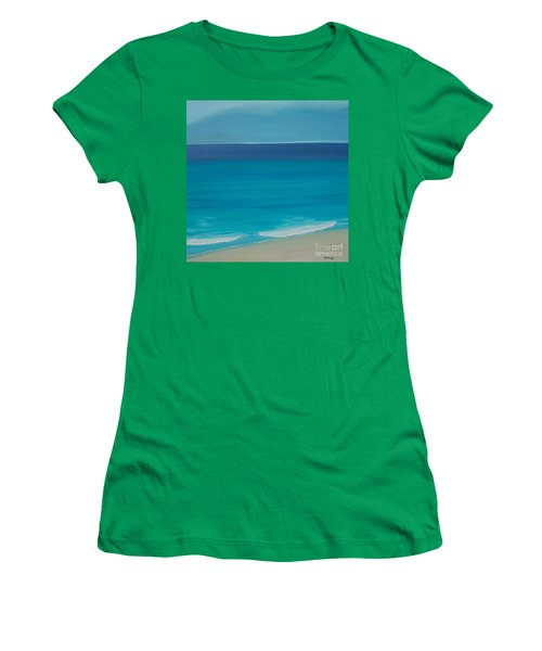 Women's T-Shirt (Junior Cut) featuring the painting Madagascar by Mini Arora