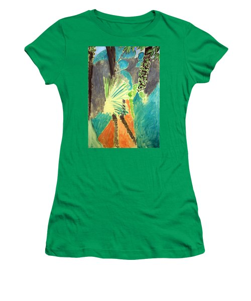 Matisse's Palm Leaf In Tangier Women's T-Shirt (Junior Cut) by Cora Wandel