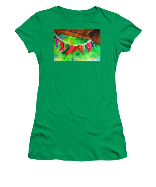 Hanging Jalapenos  Women's T-Shirt (Athletic Fit)