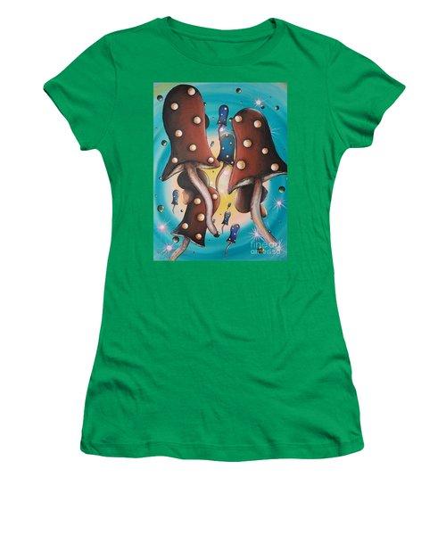 Mushroom Migration Women's T-Shirt (Athletic Fit)