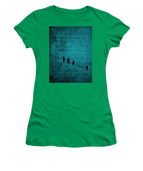 Music Soothes The Soul Women's T-Shirt (Junior Cut) by Andrea Kollo