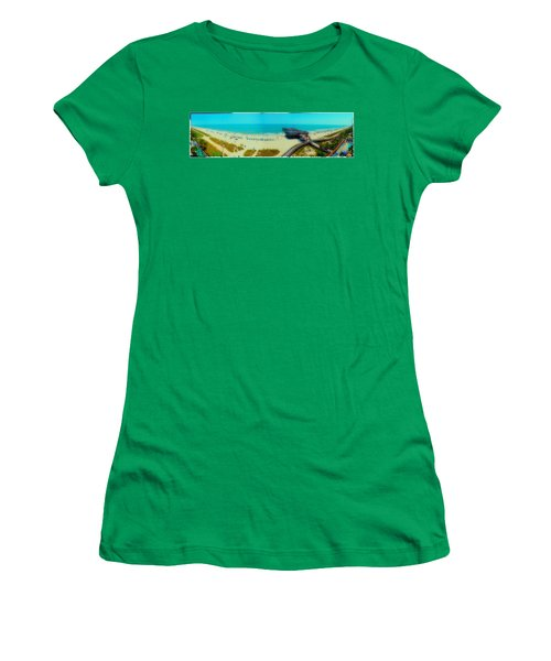 Women's T-Shirt (Junior Cut) featuring the photograph Myrtle Beach South Carolina by Alex Grichenko